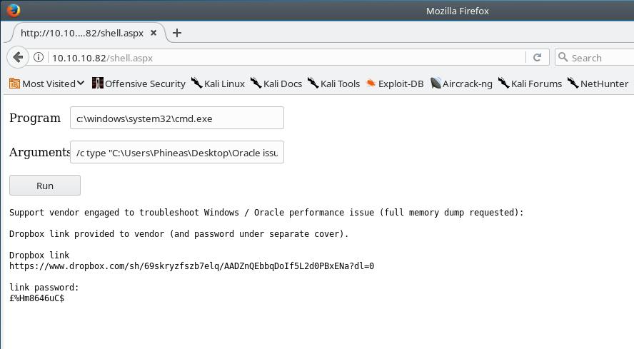 """Dropbox Memory Dump Message"""